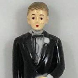 Wedding Groom Plastic Figurine